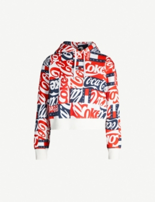 TOMMY JEANS Tommy x Coca Cola cropped cotton hoody