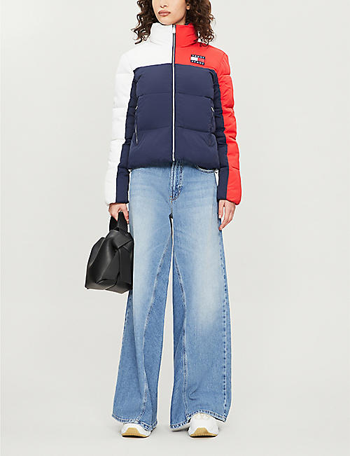 TOMMY JEANS Padded quilted high-neck shell jacket