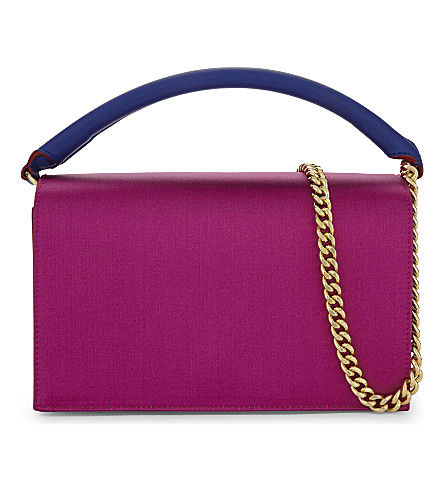e552ad0410b7 ... DIANE VON FURSTENBERG Soiree satin shoulder bag (Ribbon+pink+multi.  PreviousNext