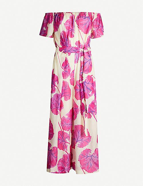 fcb792f91d6 DIANE VON FURSTENBERG Helena floral-print cotton and silk-blend jumpsuit