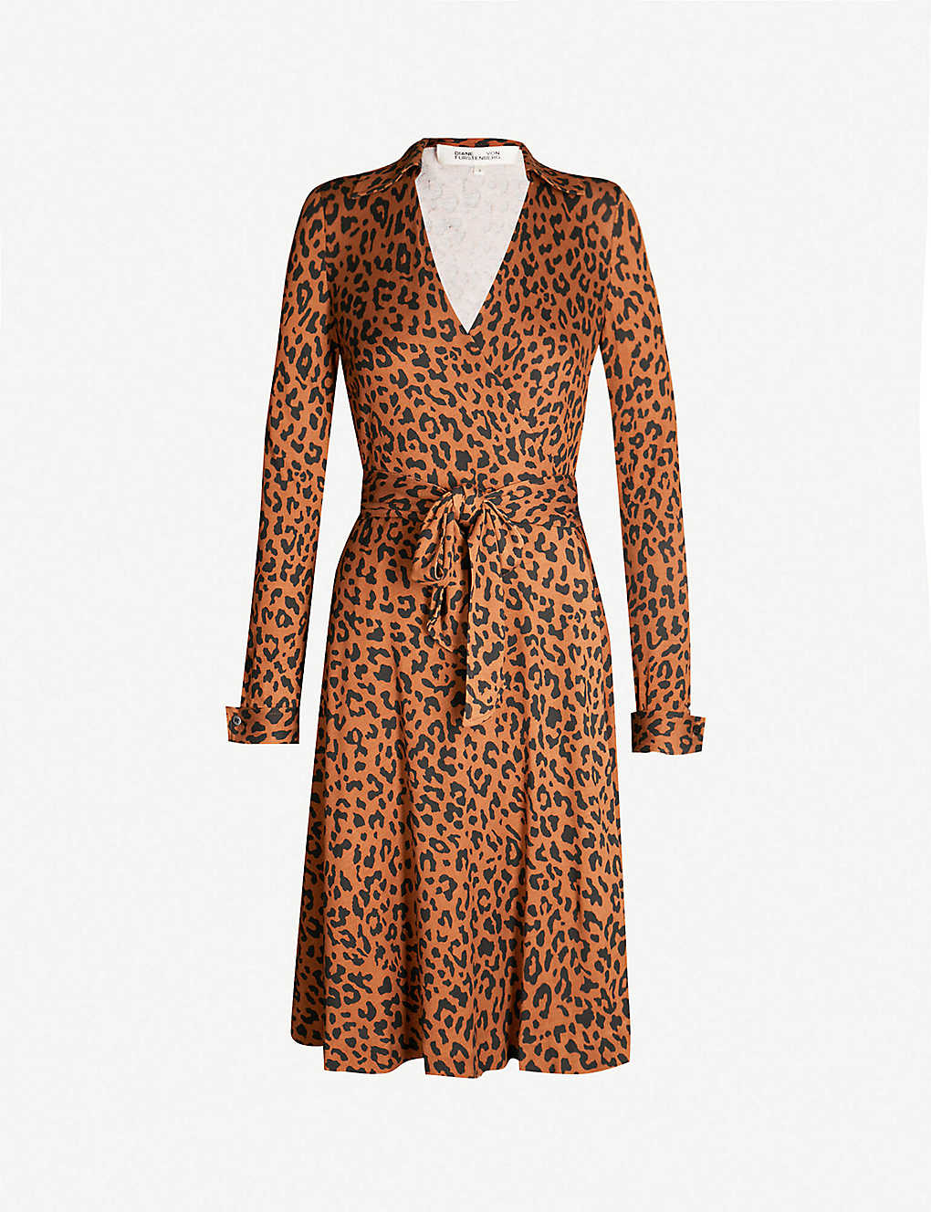 f0cffb8bce38 DIANE VON FURSTENBERG - Cybil leopard-print silk wrap dress | Selfridges.com