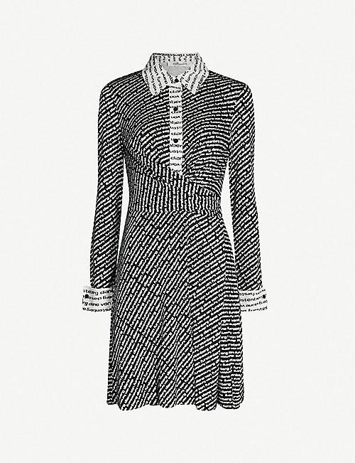 c3e036006bdf9 DIANE VON FURSTENBERG Didi logo-print dress