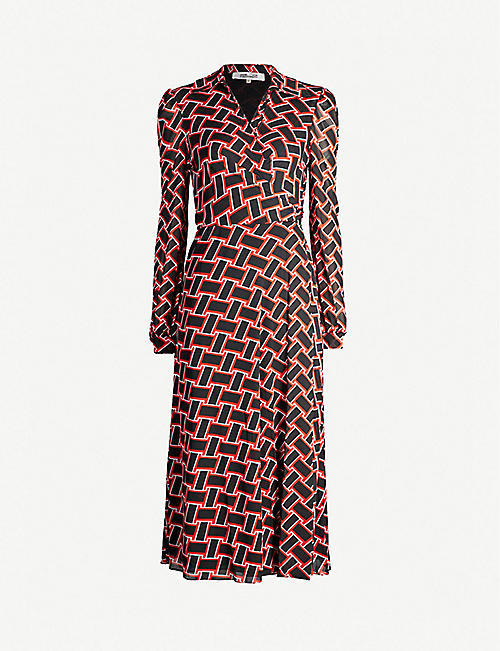 feb72e73c7 DIANE VON FURSTENBERG Phoenix mesh wrap dress