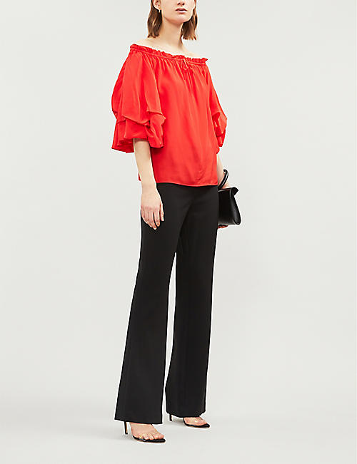 DIANE VON FURSTENBERG Georganne off-the-shoulder silk top