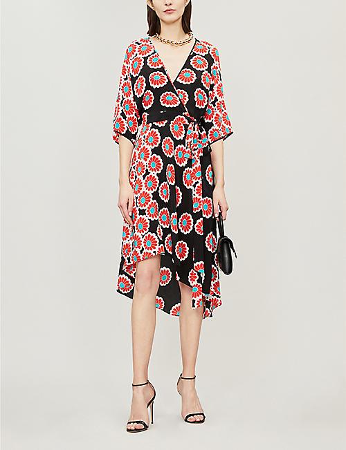06c11687dbf DIANE VON FURSTENBERG Eloise silk wrap dress