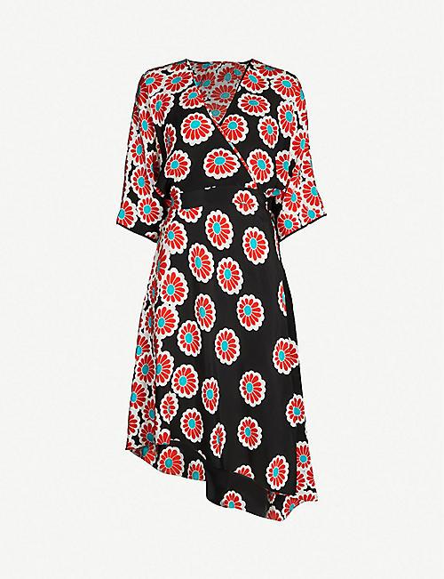 10a91df76b DIANE VON FURSTENBERG Eloise silk wrap dress