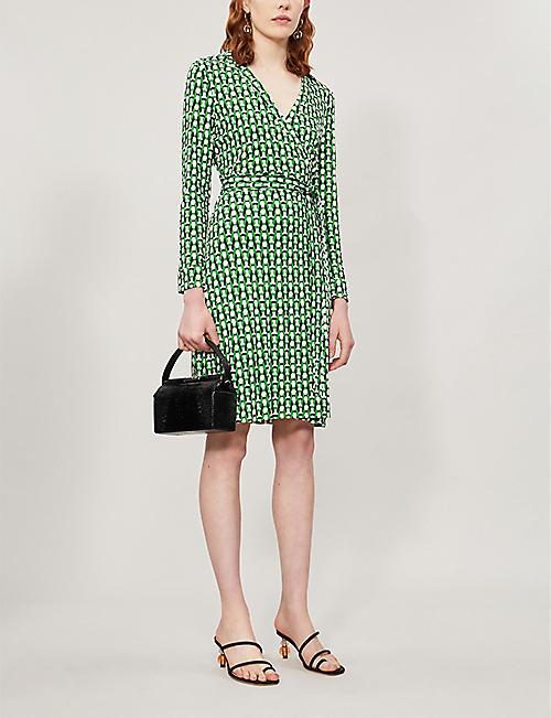 23a54e0eca1 DIANE VON FURSTENBERG Jeanne geometric-print silk midi dress