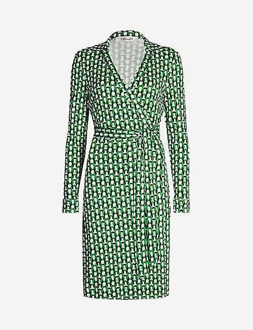 5fafbd460fb0 DIANE VON FURSTENBERG Jeanne geometric-print silk midi dress