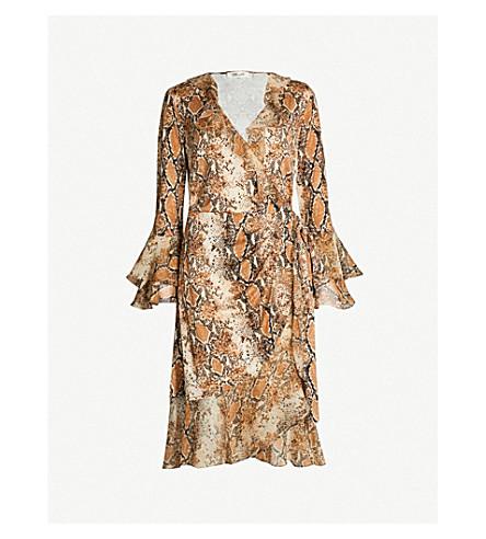 8edbfc4d1d DIANE VON FURSTENBERG Carli python-print frilled silk-jersey wrap dress ( Python+