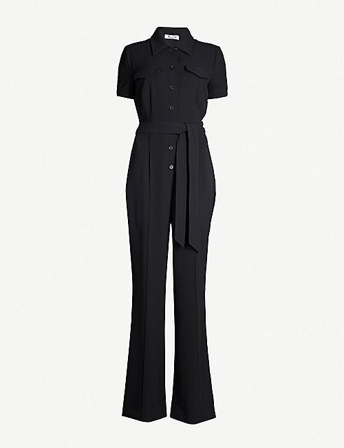 d892c81164 DIANE VON FURSTENBERG Daisy waist-tie crepe jumpsuit