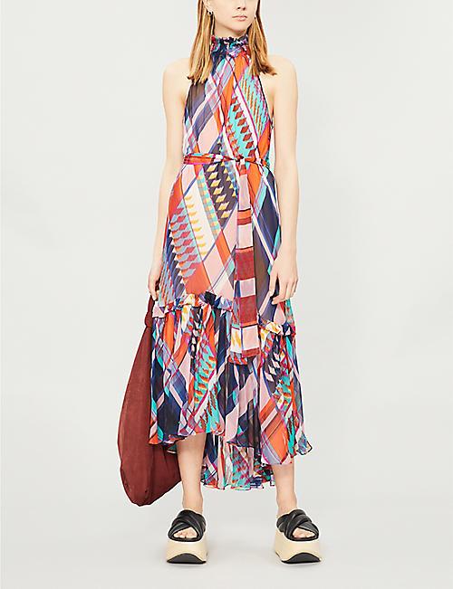 593b9a5db86f DIANE VON FURSTENBERG Selena silk-chiffon dress