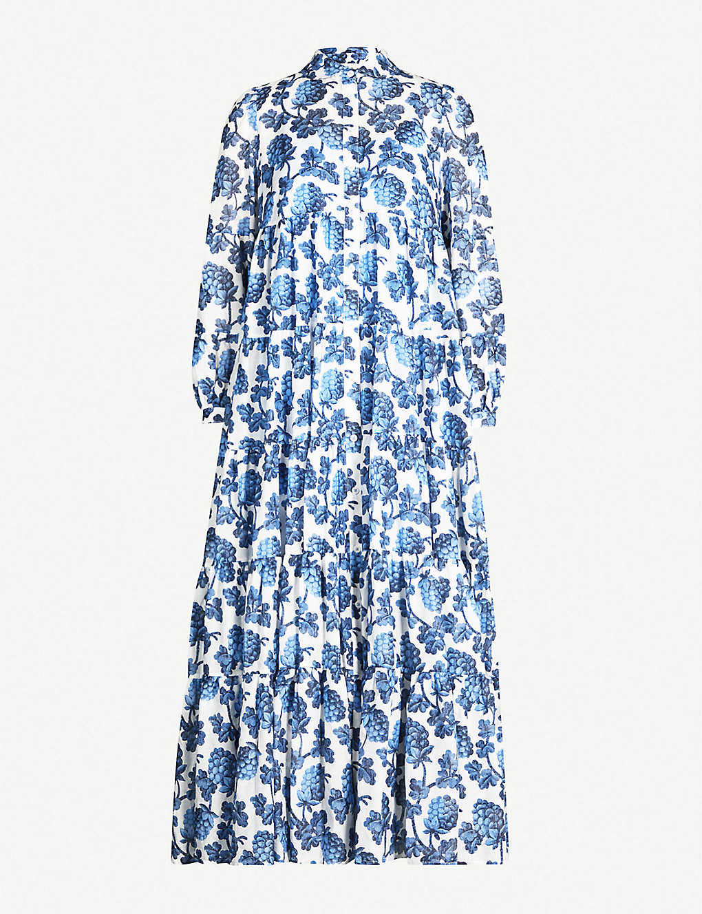 fce810d492b1 DIANE VON FURSTENBERG - Kiara cotton and silk-blend maxi dress ...
