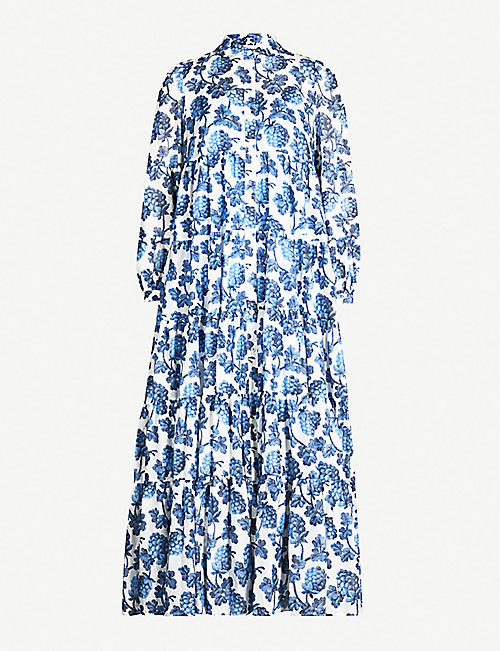 16820703d1be74 DIANE VON FURSTENBERG Kiara cotton and silk-blend maxi dress