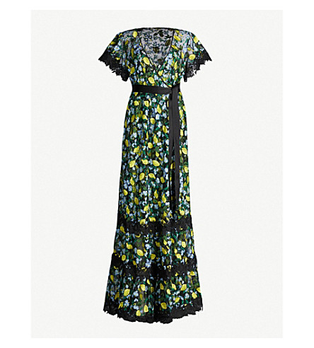 DIANE VON FURSTENBERG VICTORIOUS EMBROIDERED TULLE MAXI DRESS