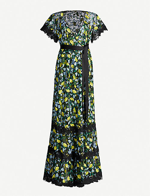 ba8d26a0d181 DIANE VON FURSTENBERG Victorious embroidered tulle maxi dress