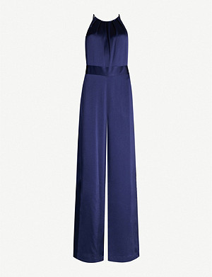 DIANE VON FURSTENBERG Constantina high-neck satin wide-leg jumpsuit