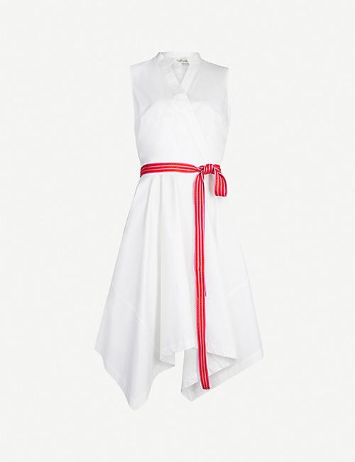4701a81182d DIANE VON FURSTENBERG Marlene belted sleeveless stretch-cotton dress