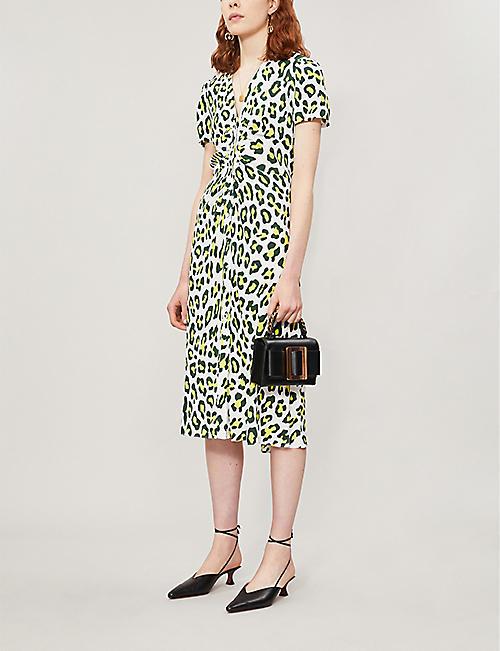 0bc42205fb15 DIANE VON FURSTENBERG Cecilia leopard-print crepe dress