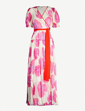 DIANE VON FURSTENBERG Breeze floral-print silk wrap dress