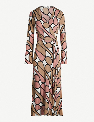 DIANE VON FURSTENBERG Tilly graphic-print silk wrap dress