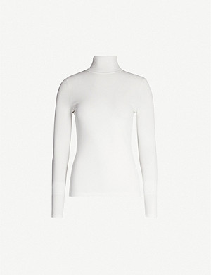DIANE VON FURSTENBERG Jelena turtleneck knitted top