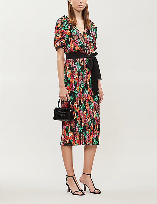 DIANE VON FURSTENBERG Autumn floral-print stretch-crepe wrap dress