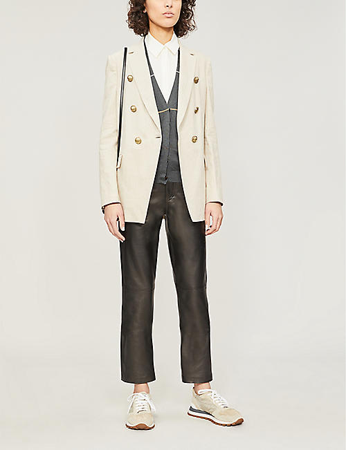 BRUNELLO CUCINELLI Rustic linen and cotton-blend jacket