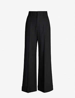 BRUNELLO CUCINELLI Turn-up wide wool-blend trousers