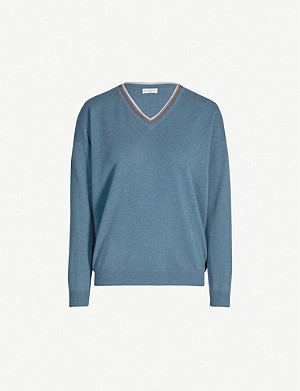 BRUNELLO CUCINELLI Embellished-neck cashmere jumper