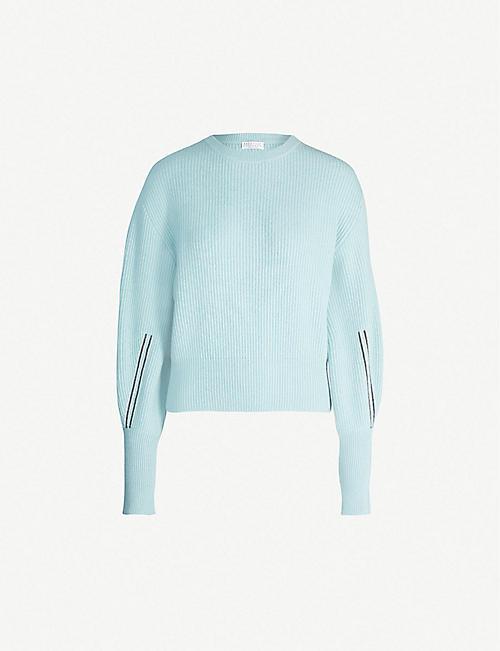 283b47a8d9a BRUNELLO CUCINELLI Bead-embellished cashmere jumper