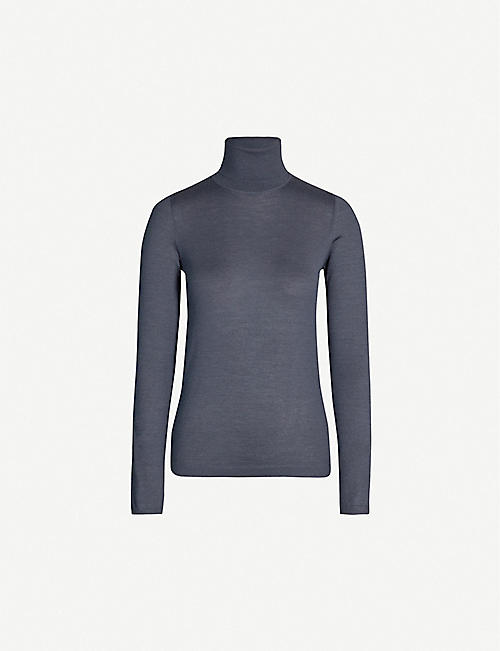 BRUNELLO CUCINELLI Turtleneck cashmere and silk-blend jumper