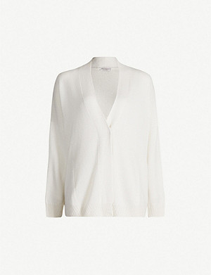 BRUNELLO CUCINELLI Button-up cashmere-and-silk blend cardigan