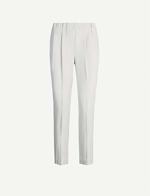 BRUNELLO CUCINELLI Tapered cropped crepe trousers