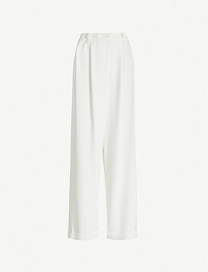 BRUNELLO CUCINELLI High-rise wide crepe trousers
