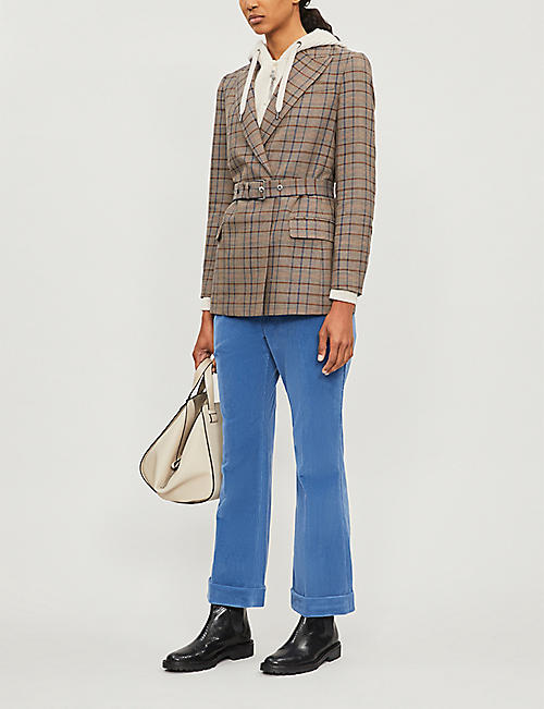 BRUNELLO CUCINELLI High-rise bootcut corduroy trousers