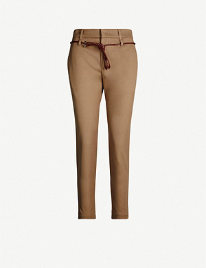 BRUNELLO CUCINELLI Tapered mid-rise stretch-cotton trousers
