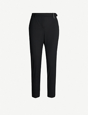 BRUNELLO CUCINELLI High-rise tapered wool-blend trousers