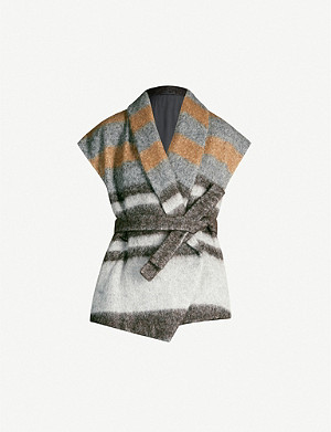 BRUNELLO CUCINELLI Striped wool-blend cardigan