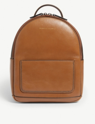 BRUNELLO CUCINELLI Embellished grained leather backpack