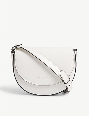 BRUNELLO CUCINELLI Embellished leather belt bag