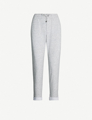 BRUNELLO CUCINELLI High-rise cashmere-blend jogging bottoms