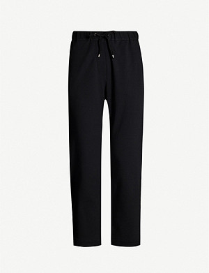 BRUNELLO CUCINELLI Embellished side-trim cotton-jersey trousers