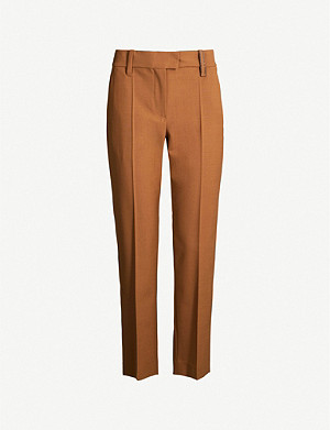 BRUNELLO CUCINELLI Straight-leg tapered crepe trousers