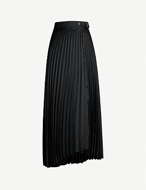 BRUNELLO CUCINELLI Pleated crepe midi skirt