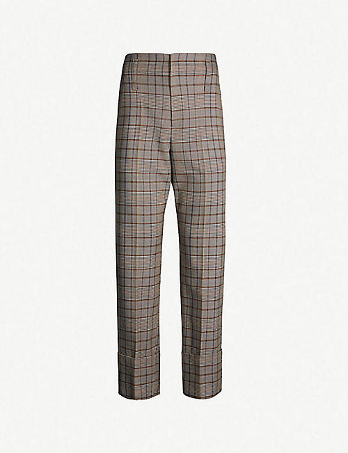 1d7899b9612cf BRUNELLO CUCINELLI Prince of Wales checked wool and cotton-blend trousers