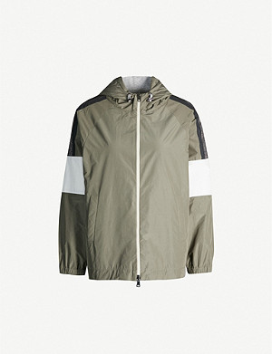 BRUNELLO CUCINELLI Hooded satin jacket