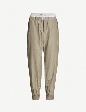 BRUNELLO CUCINELLI High-rise woven jogging bottoms