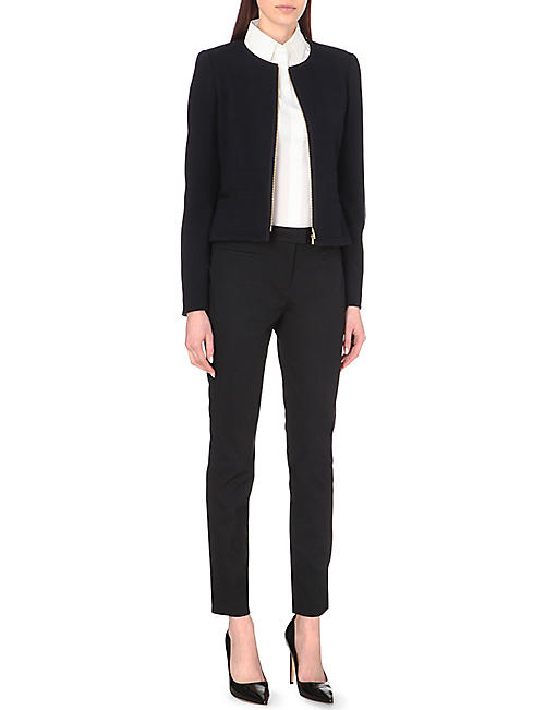 HUGO BOSS Pique texture stretch-cotton trousers