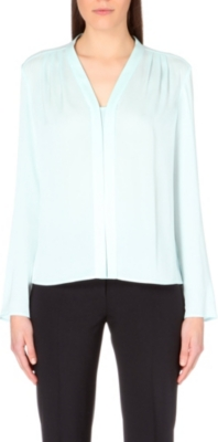 HUGO BOSS Benula stretch-silk top