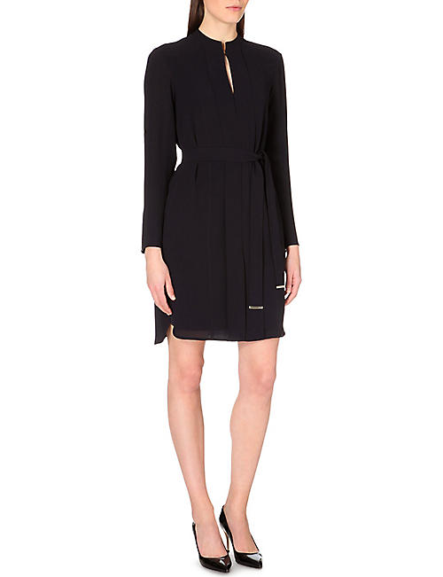 HUGO BOSS Dakena belted crepe dress